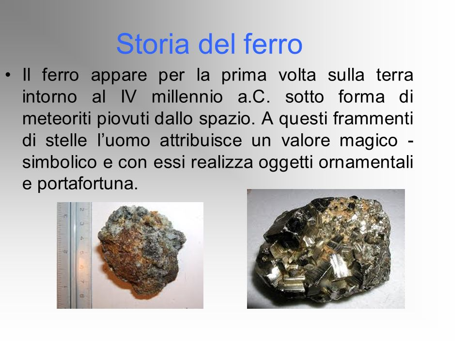 Storia del ferro