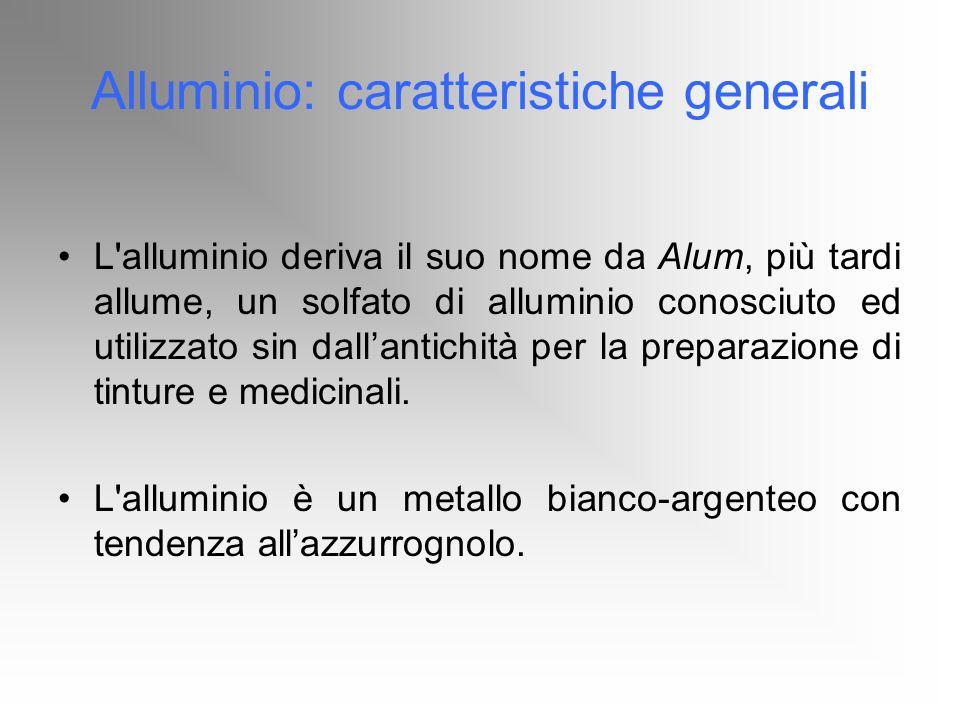 Alluminio: caratteristiche generali