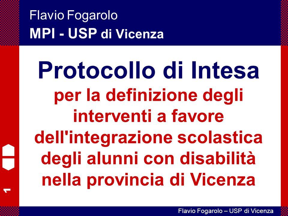 Flavio Fogarolo MPI - USP di Vicenza.