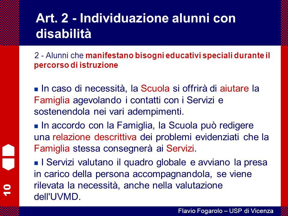 Art. 2 - Individuazione alunni con disabilità