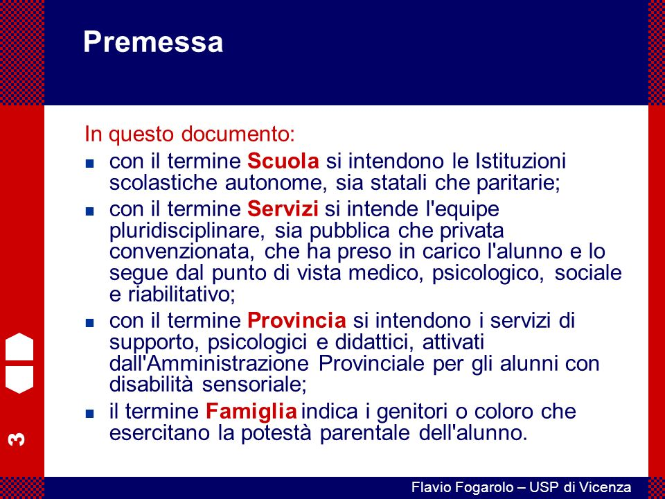 Premessa In questo documento:
