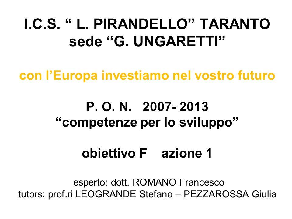 I. C. S. L. PIRANDELLO TARANTO sede G