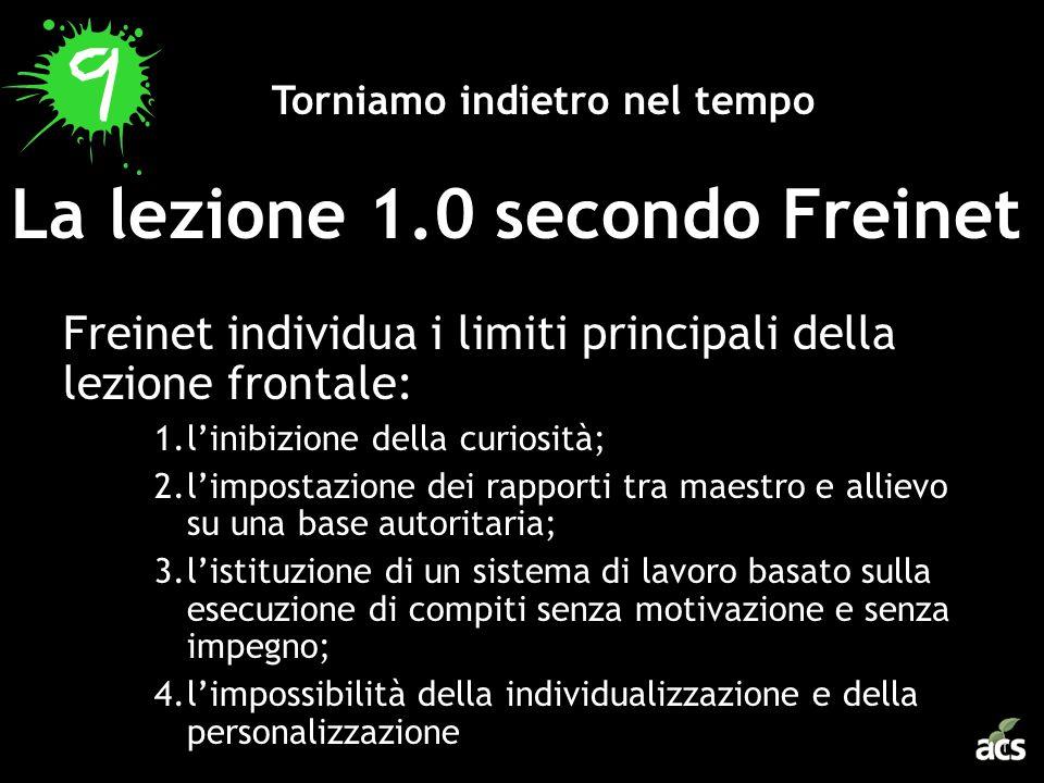 La lezione 1.0 secondo Freinet