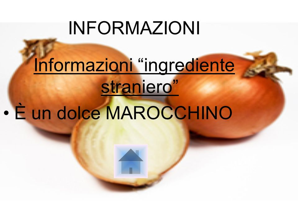 Informazioni ingrediente straniero