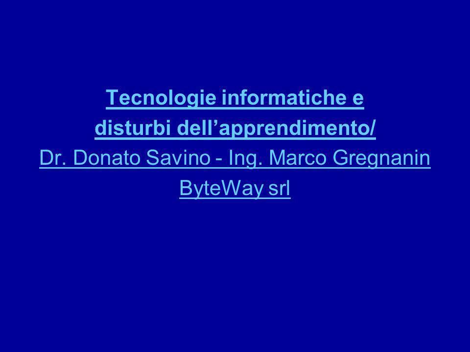 Tecnologie informatiche e disturbi dell'apprendimento/