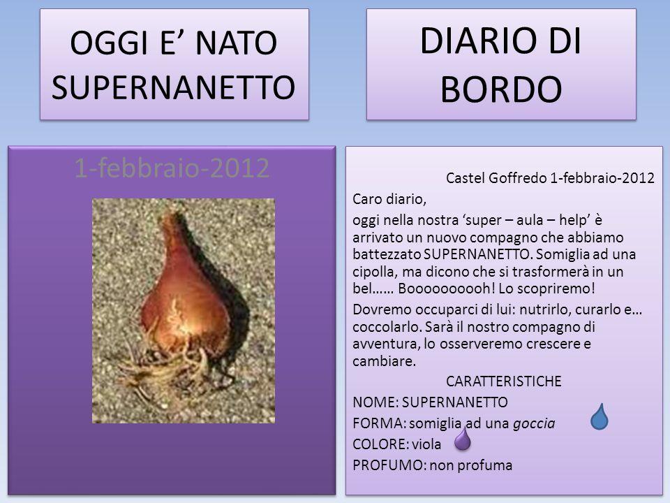 OGGI E' NATO SUPERNANETTO