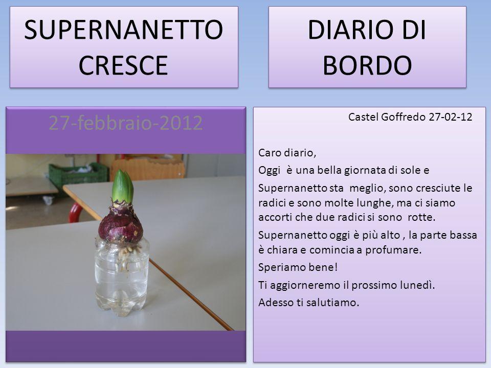 SUPERNANETTO CRESCE DIARIO DI BORDO 27-febbraio-2012