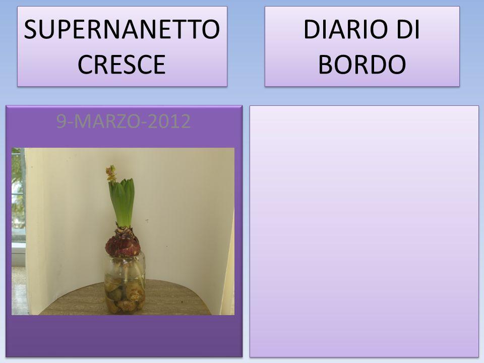SUPERNANETTO CRESCE DIARIO DI BORDO 9-MARZO-2012