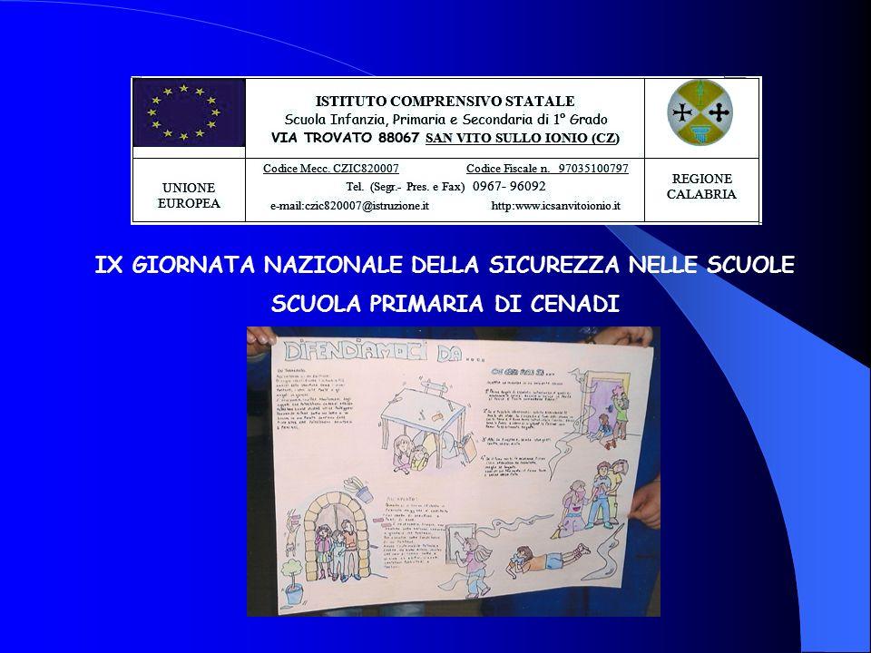 IX GIORNATA NAZIONALE DELLA SICUREZZA NELLE SCUOLE