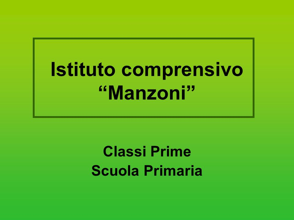 Istituto comprensivo Manzoni