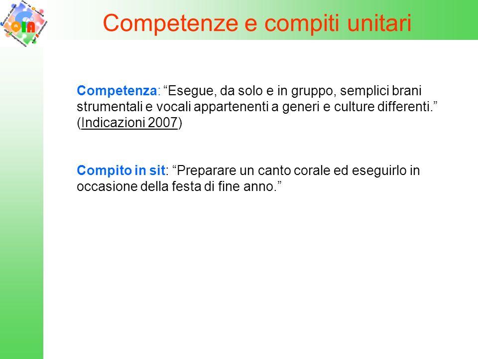 Competenze e compiti unitari