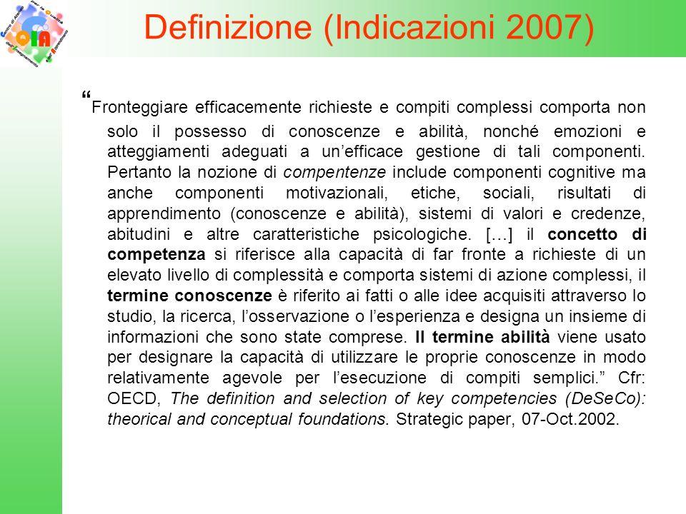 Definizione (Indicazioni 2007)