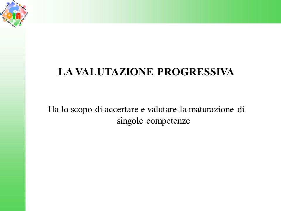 LA VALUTAZIONE PROGRESSIVA