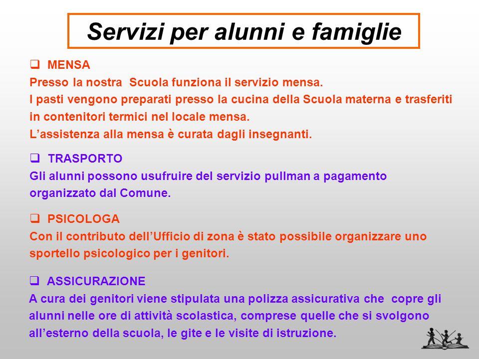 Servizi per alunni e famiglie
