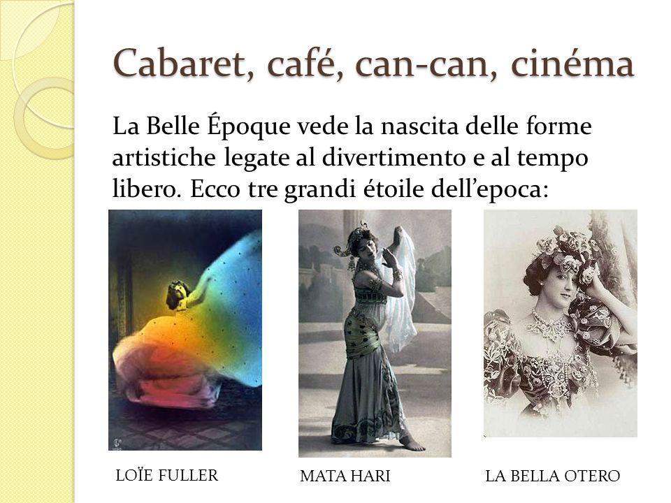 Cabaret, café, can-can, cinéma