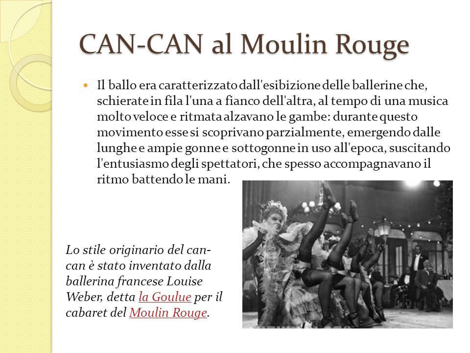 CAN-CAN al Moulin Rouge
