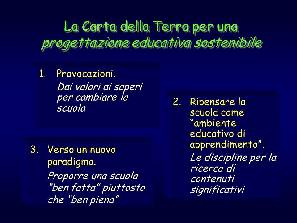 La Carta della Terra per una progettazione educativa sostenibile