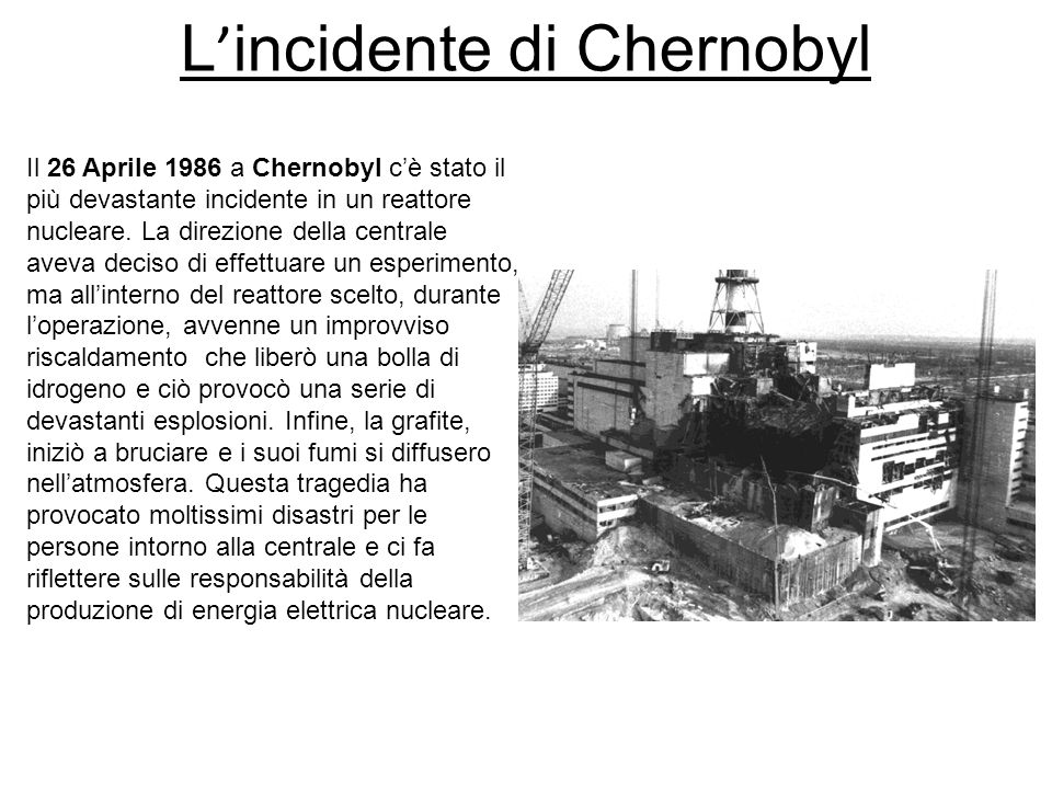 L'incidente di Chernobyl
