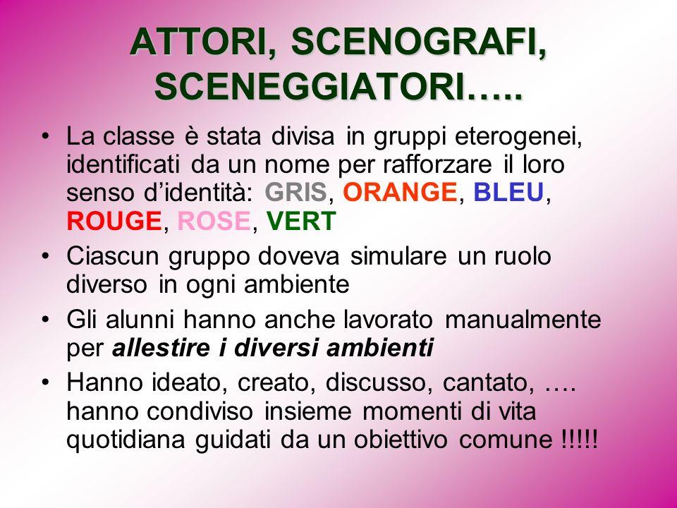 ATTORI, SCENOGRAFI, SCENEGGIATORI…..
