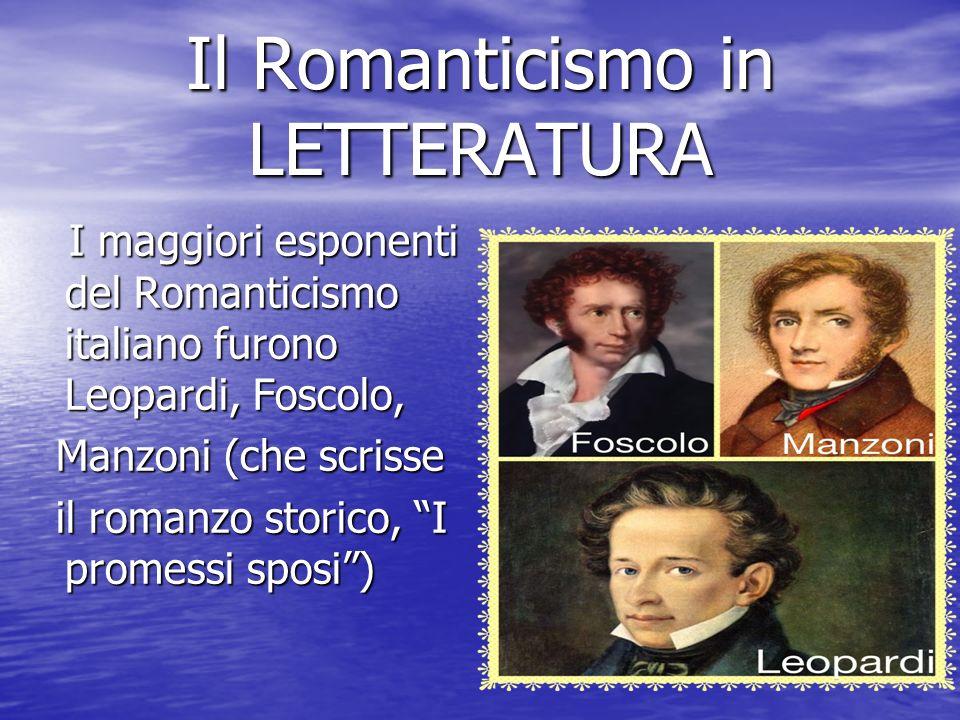 Il Romanticismo in LETTERATURA