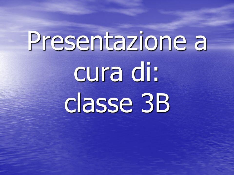 Presentazione a cura di: classe 3B