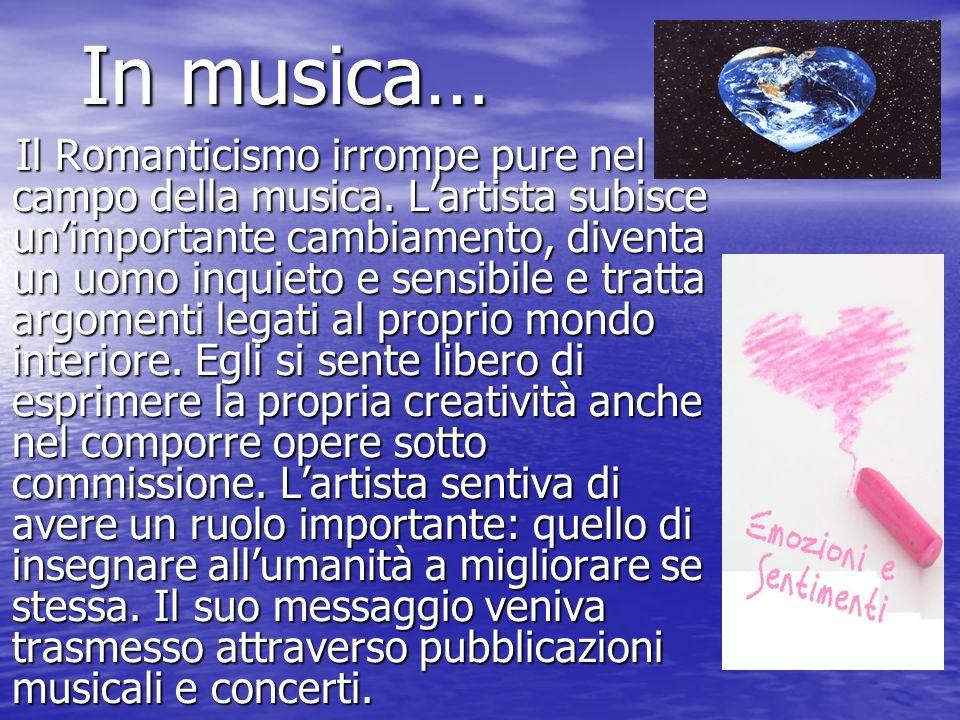In musica…