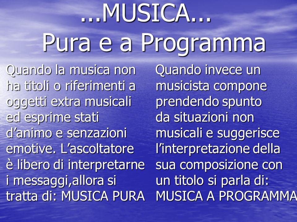 ...MUSICA... Pura e a Programma