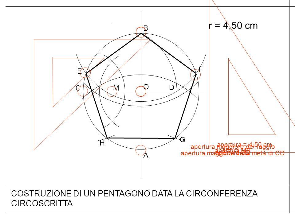 COSTRUZIONE DI UN PENTAGONO DATA LA CIRCONFERENZA CIRCOSCRITTA
