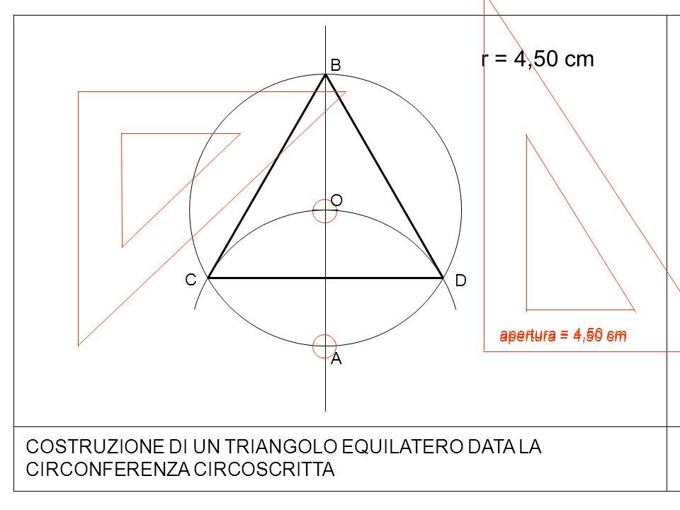 COSTRUZIONE DI UN TRIANGOLO EQUILATERO DATA LA CIRCONFERENZA CIRCOSCRITTA