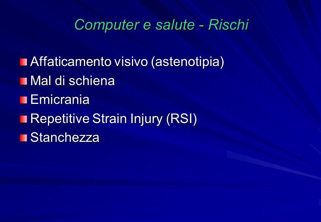 Computer e salute - Rischi