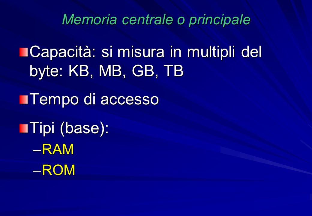 Memoria centrale o principale