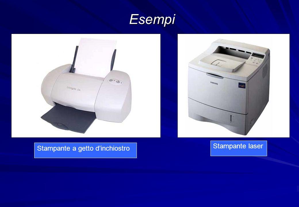 Esempi Stampante laser Stampante a getto d'inchiostro