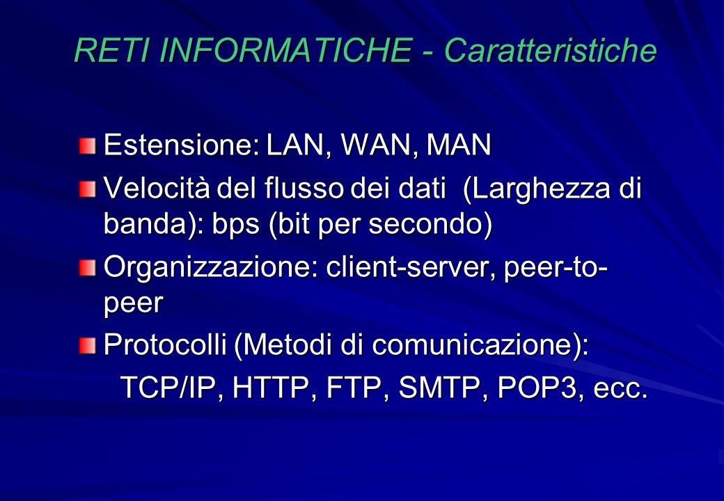 RETI INFORMATICHE - Caratteristiche