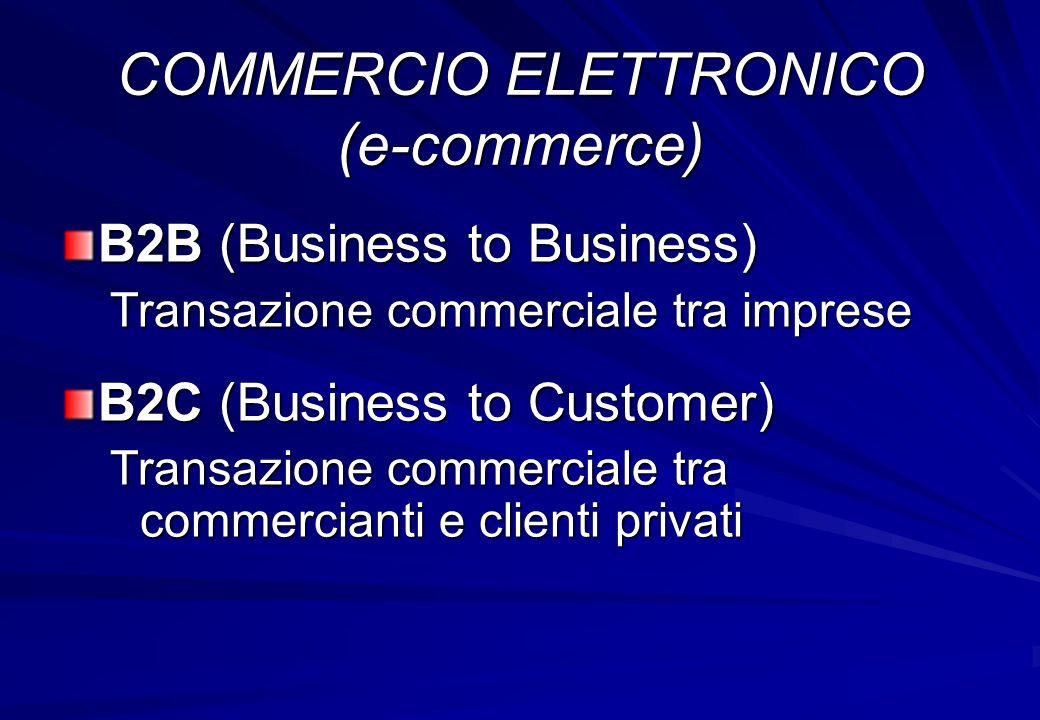 COMMERCIO ELETTRONICO (e-commerce)