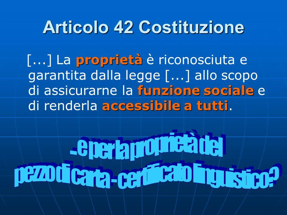 Articolo 42 Costituzione