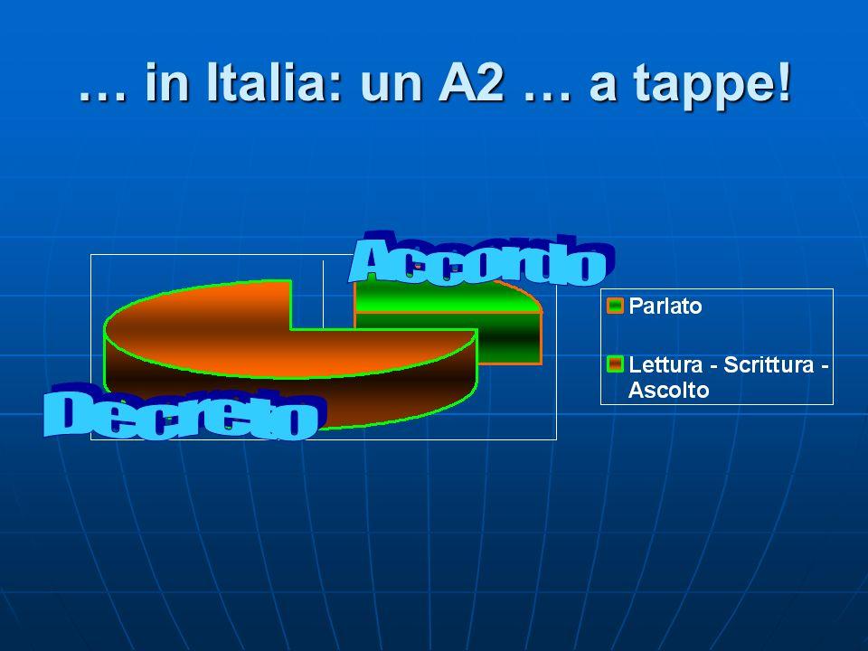 … in Italia: un A2 … a tappe!