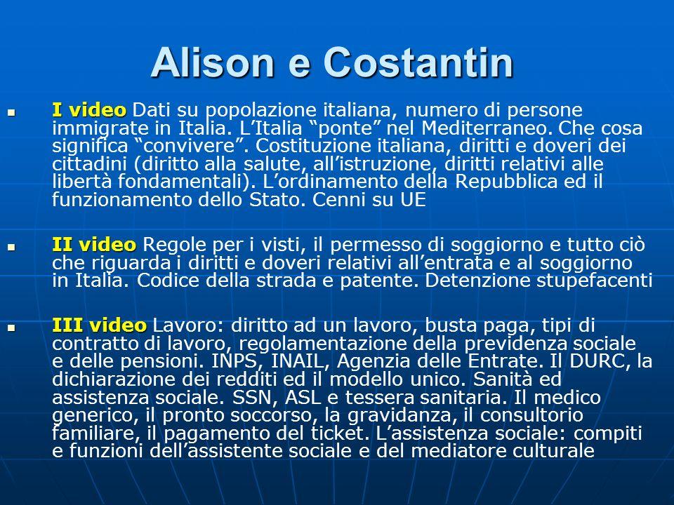 Alison e Costantin