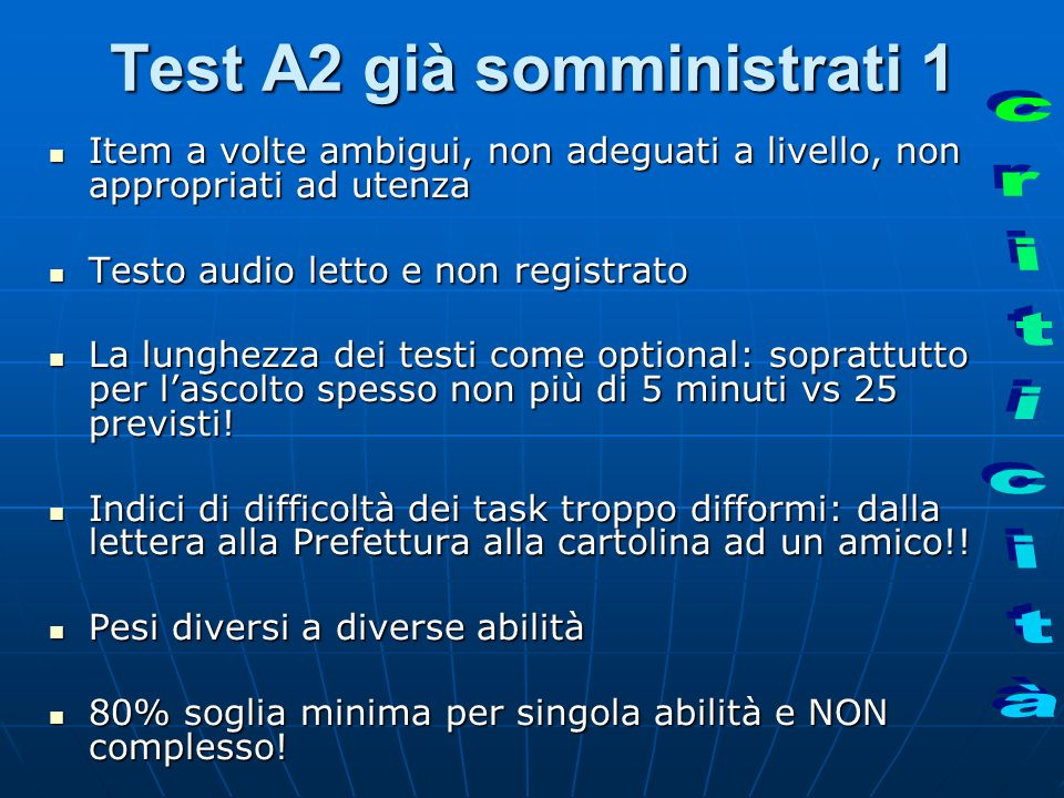 Test A2 già somministrati 1