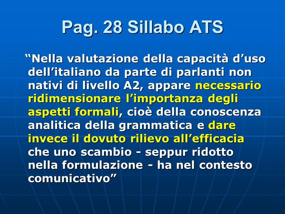 Pag. 28 Sillabo ATS