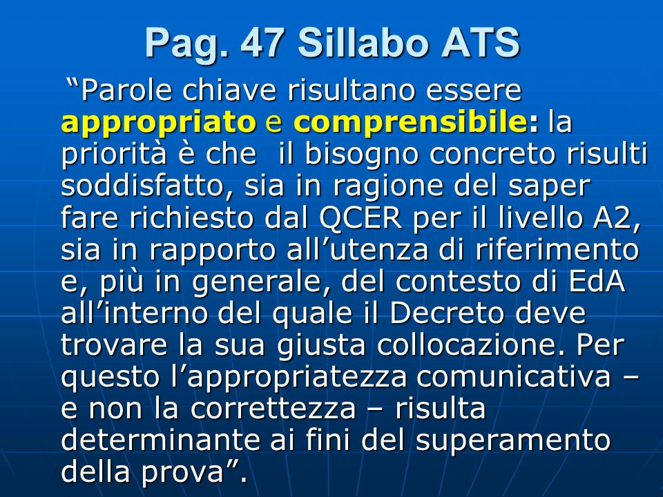Pag. 47 Sillabo ATS
