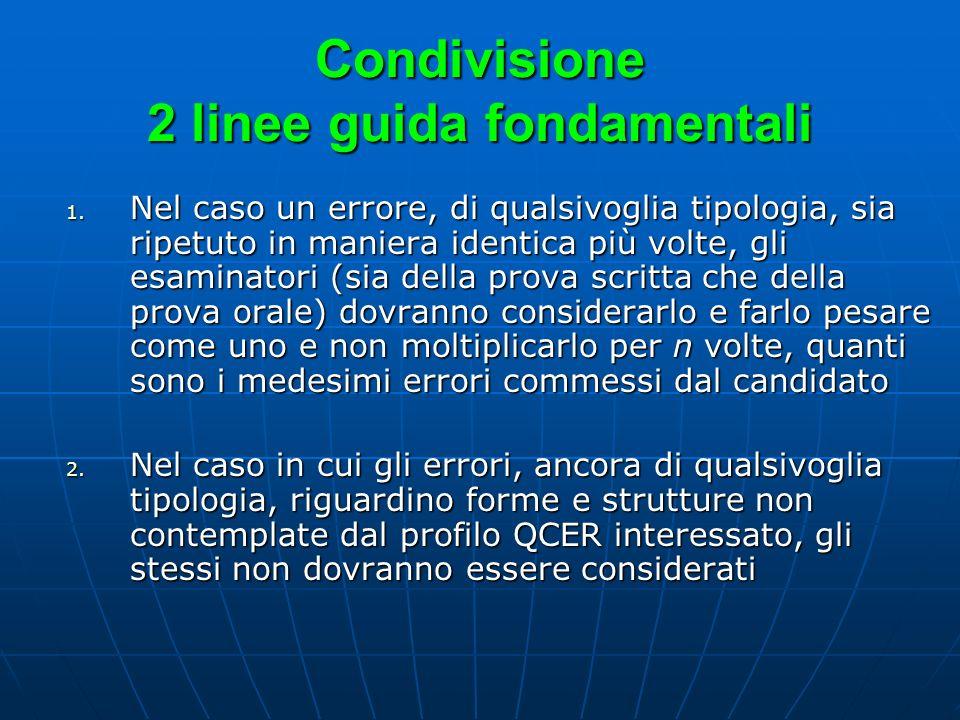 Condivisione 2 linee guida fondamentali