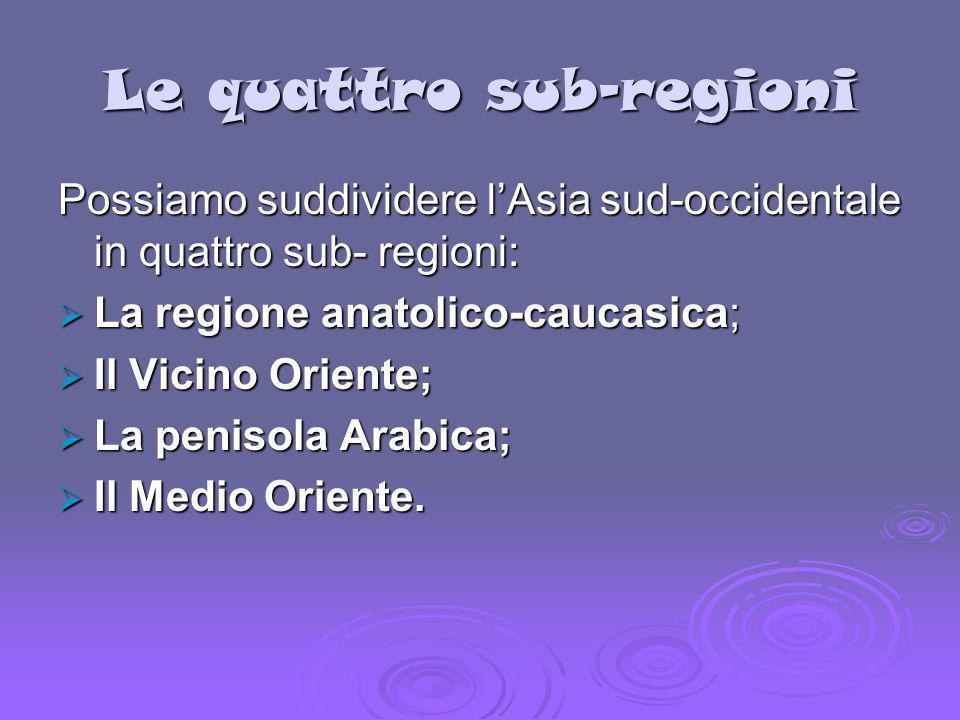 Le quattro sub-regioni
