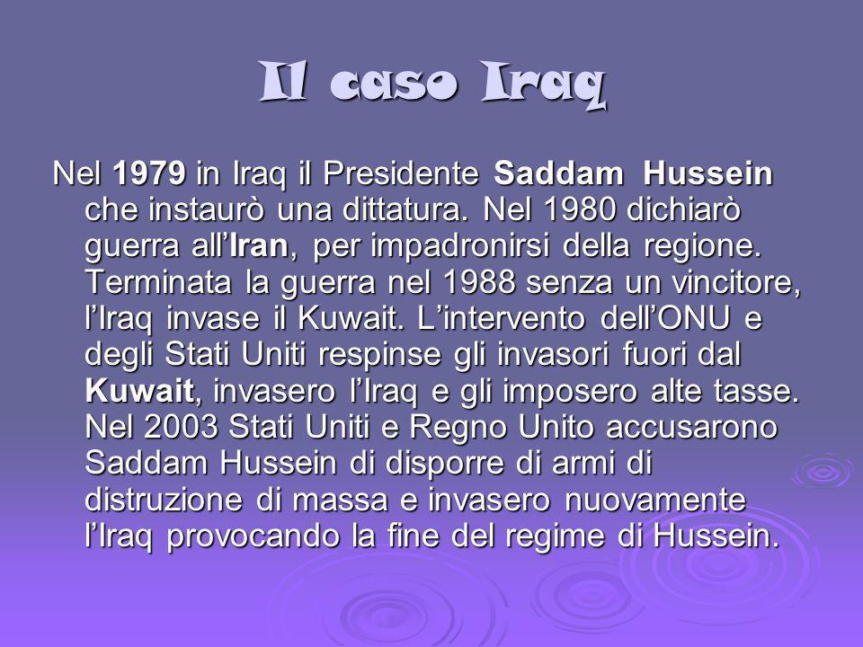 Il caso Iraq