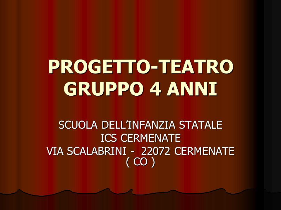 PROGETTO-TEATRO GRUPPO 4 ANNI