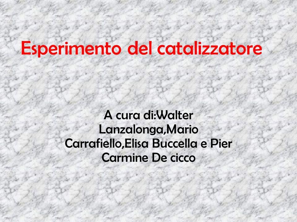 Esperimento del catalizzatore