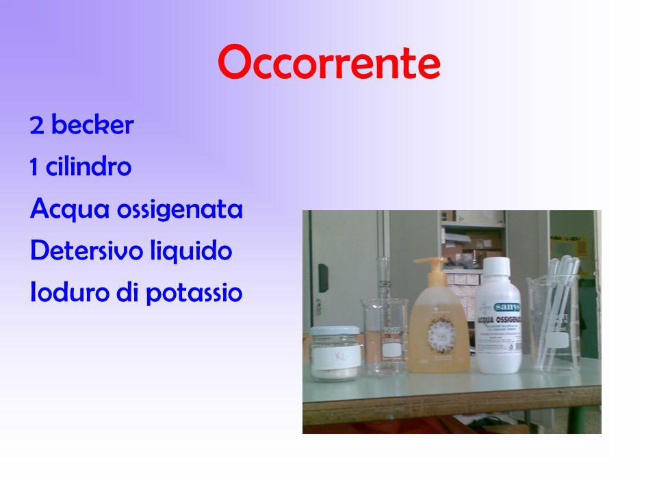 Occorrente 2 becker 1 cilindro Acqua ossigenata Detersivo liquido
