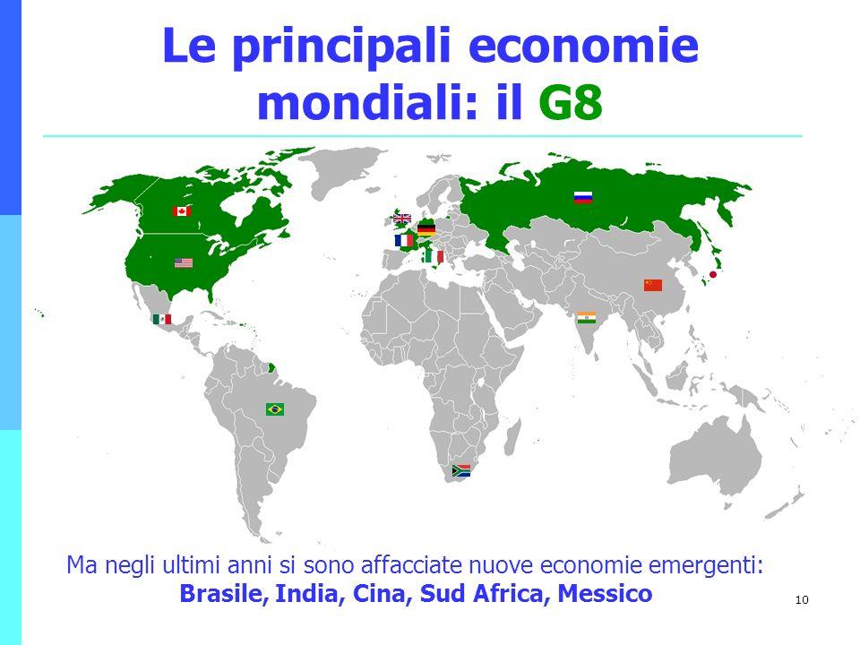 Le principali economie mondiali: il G8