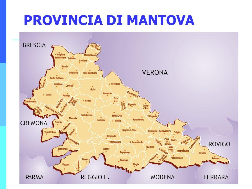 PROVINCIA DI MANTOVA VERONA BRESCIA CREMONA ROVIGO PARMA REGGIO E.