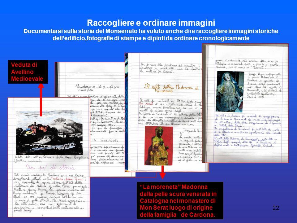 Raccogliere e ordinare immagini Documentarsi sulla storia del Monserrato ha voluto anche dire raccogliere immagini storiche dell'edificio,fotografie di stampe e dipinti da ordinare cronologicamente