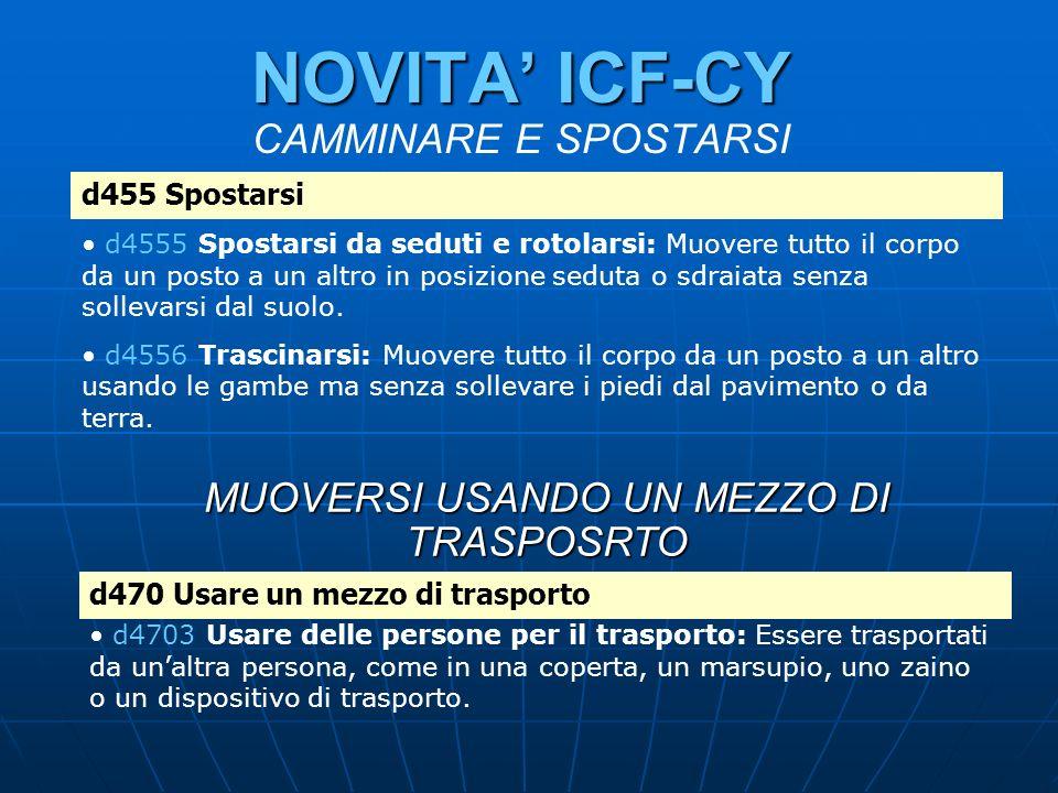 NOVITA' ICF-CY CAMMINARE E SPOSTARSI
